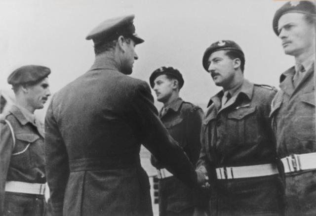 Lord Mountbatten,  Lt.Col. Stuart, and Captains Buckle,  John Sergeant and Ray Bolitho