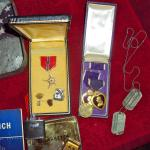 Medals and other items of Patrick Duffy 168th Inf. and 1st US Rangers