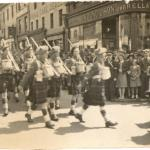 No.2 Commando 5 troop on parade  High Street, Dumfries 1941