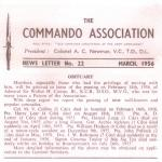Commando Association Newsletter, March 1956