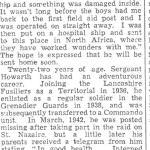 Newspaper cutting (2) re Arnold Howarth BEM, No.2 Cdo