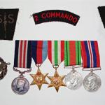 No.2 Commando insignia and medals of L/Sgt Joe Rogers MM.