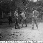 8 Bty Australia 1966 Sgt. Barker, Gnr. Bailey LBdr. Smith and Gnr. Lye