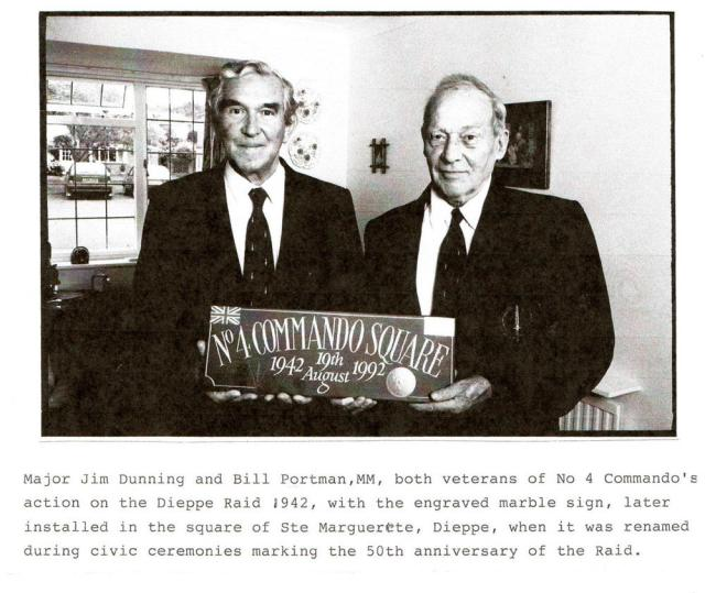Jimmy Dunning and Bill Portman MM