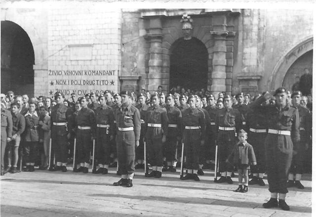 43RM Commando on parade at Dubrovnik -3