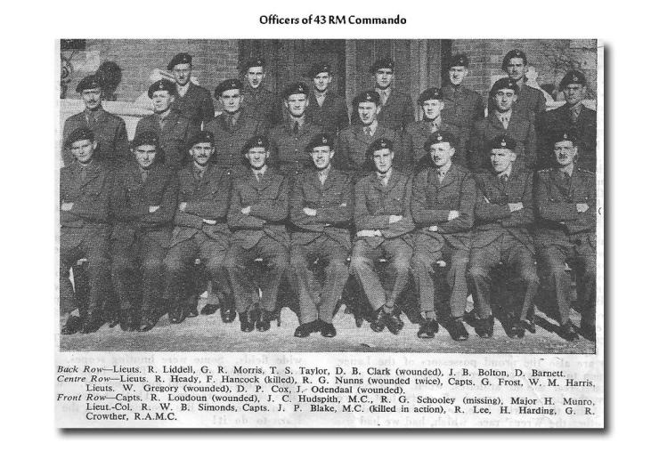 Officers of 43 RM Commando