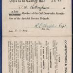 David Nottingham No.3 Cdo. membership card