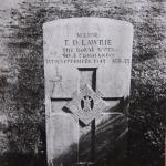 The grave of Major Lawrie No 2 Cdo