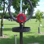 CVA Wreath on the CVA Memorial