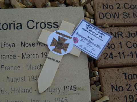 Cross to the memory of Eric Harden VC
