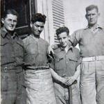 TSM Ken McAllister, Pte. P. Deary, Pte. Leslie 'Tich' Ainslie, Sgt Edward 'Tiny' Burke
