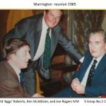 Harold 'Aggs' Roberts, Ken McAllister, and Joe Rogers MM