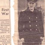 Newspaper reports about Commander Goulding DSO RNR