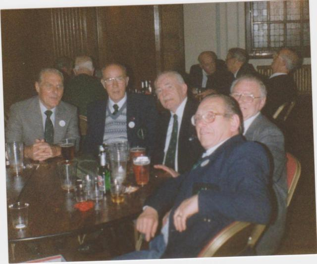 Norman Brion and other veterans from No. 5 Commando 1990