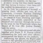 Newspaper report of the CMWTC parade in St Ives.