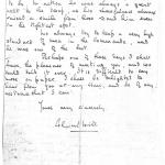 Letter (p2) to the mother of Albert Watts No. 9 Cdo