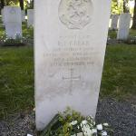 The grave of L/Sgt Edward James Geear