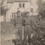 Ted Pritchard and pal - No. 3 Cdo.  Kiel 1945