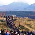 The march to the Commando Memorial