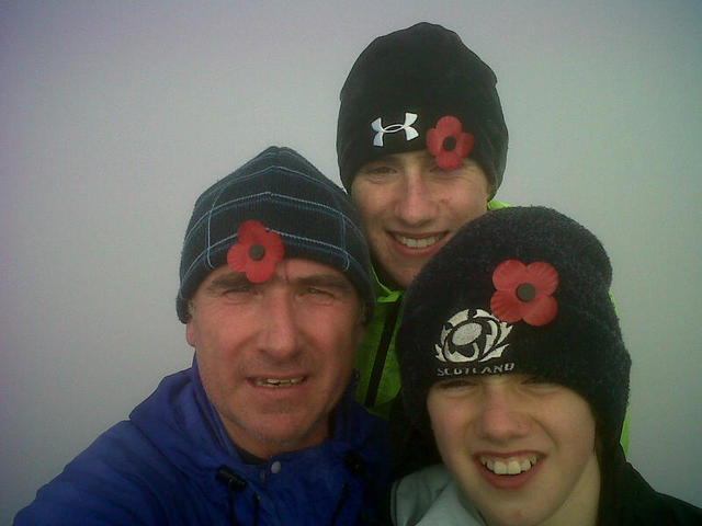 Paddy Ryan (29 Cdo RA) and his sons