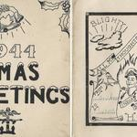 H Party Christmas Card, 1944. (outer and inner faces)