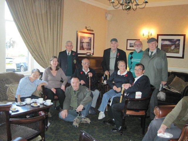 Billy Moore, Dougie Roderick, Stan Scott, Harold Nethersole and friends and family