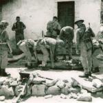 No 2 Commando attend to wounded Spilje, Albania