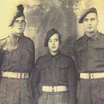 ??, Leslie 'Titch' Ainslie (5 tp No.2 Cdo), and  Sgt O'Miller (2tp No.2 Cdo)