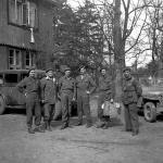 Brig. Derek Mills Roberts, Major General Robert Grice Sturges,  Brig. John Durnford Slater,  Lord Lovat