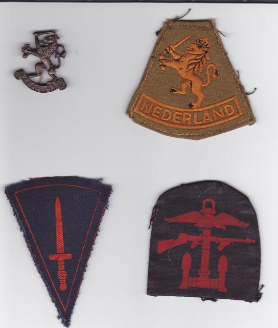 2 'Dutch' troop insignia