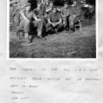 The Clerks of No.1 Special Service Bde HQ at Le Mesnil
