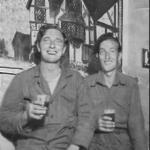 Eric Davis (on the right)  and his friend Bill Duggan, Korea, 1957
