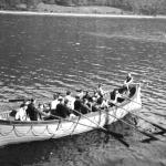One of the boats in a No.2 Cdo. boat race Inveraray June 1941