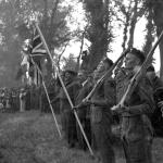 Brig. John Durnford Slater takes the salute Le Plein, Amfreville 14th July 1944
