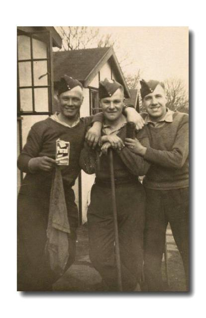 Harold Plank (centre) and 2 unknown