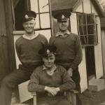 Harold Plank (seated) and 2 unknown