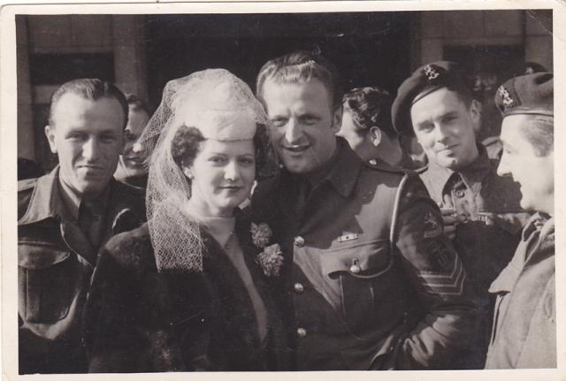 Wedding photo (1) of Sgt Karel Elshof  (No.10IA Cdo. 2 troop)