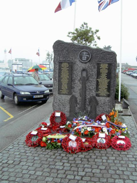 Royal Navy & Royal Marines memorial, Ouistreham  Ferry  Terminal (1)