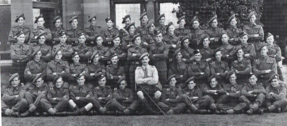 No.2 Commando 5 troop 1941 Dumfries (numbered for names)