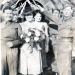 George and Mary Graham on their wedding day 20th Feb 1943