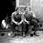 1 Bde. Signallers Jimmy Norton (left) and Duffy