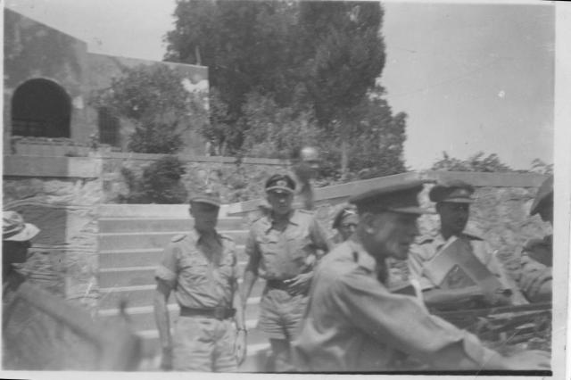 The German Commandent of Atimakyer Kos arrives for the surrender