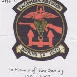 In Memory of Ken Oakley RN Commando