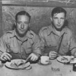 Bill 'Chalky' White (on the right) and u/k - No.2 Commando