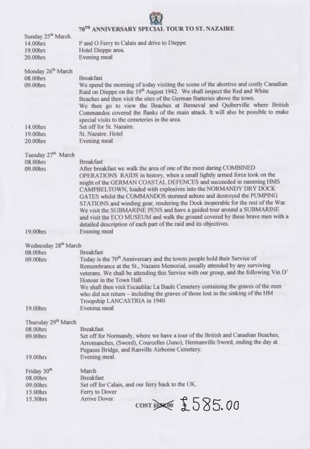 St Nazaire - March 25-30 2012 - Itinerary
