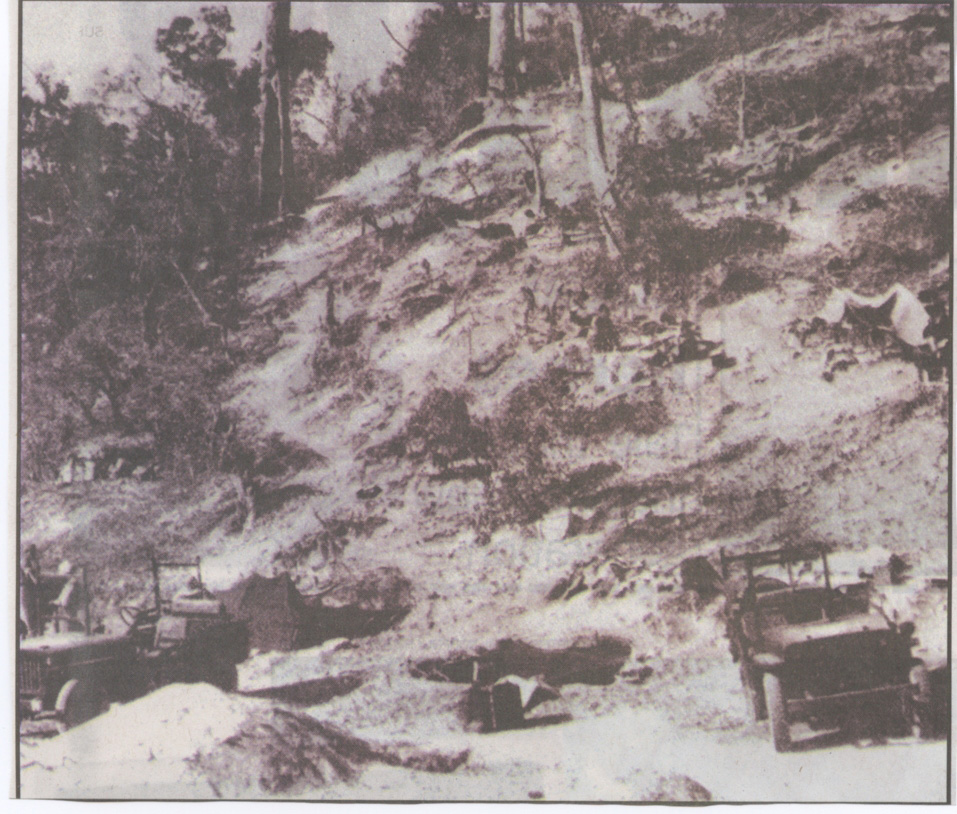 After the battle for Hill 170, Kangaw, Burma