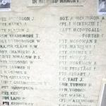 The Roll of Honour on the monument at Mount Ornito