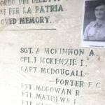 The Roll of Honour on the monument at Mount Ornito - 2