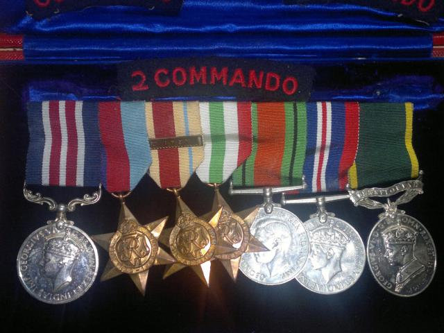 The medals of Eric Groves MM