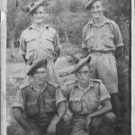 Photos of Mark Jennings and a few of his No. 11 Cdo. comrades